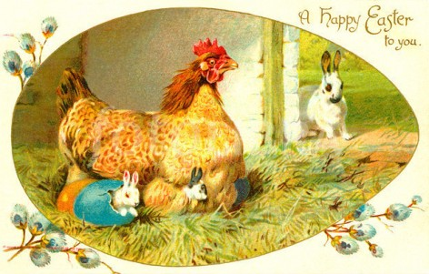 Happy Easter vintage image