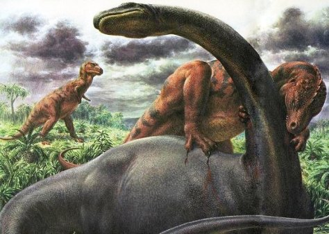1960-allosaurus-attacking-brontosaurus-by-rudolph-f-zallinger