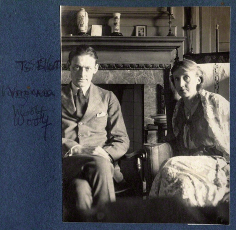 NPG Ax141646; T.S. Eliot; Virginia Woolf (nÈe Stephen) by Lady Ottoline Morrell
