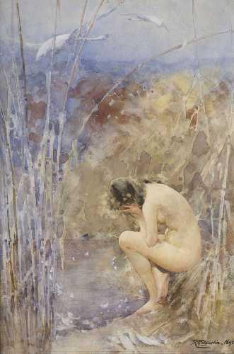 john_reinhard_weguelin-female_nude_in_the_reeds_1895