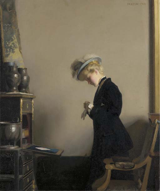 William_McGregor_Paxton_The_Letter_1908