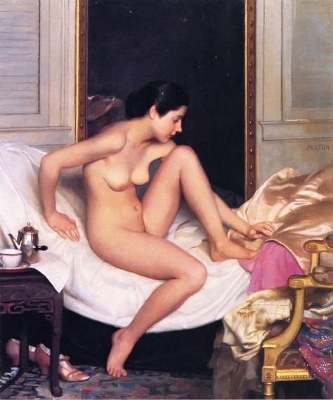 Nude-in-Interior-by-William-McGregor-Paxton