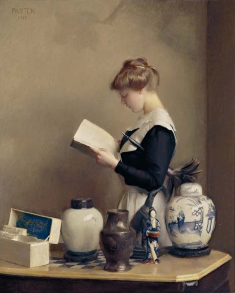 William_McGregor_Paxton,_1910_-_The_house_maid