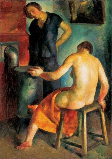 Patkó_At_the_Fireplace_1926
