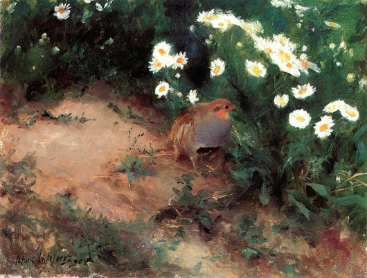 Bruno_Liljefors_-_Partridge_with_Daisies