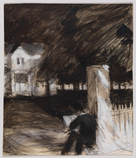 Edward_Hopper_-_Study_of_Man_Sketching_in_Front_of_a_House_(1900)