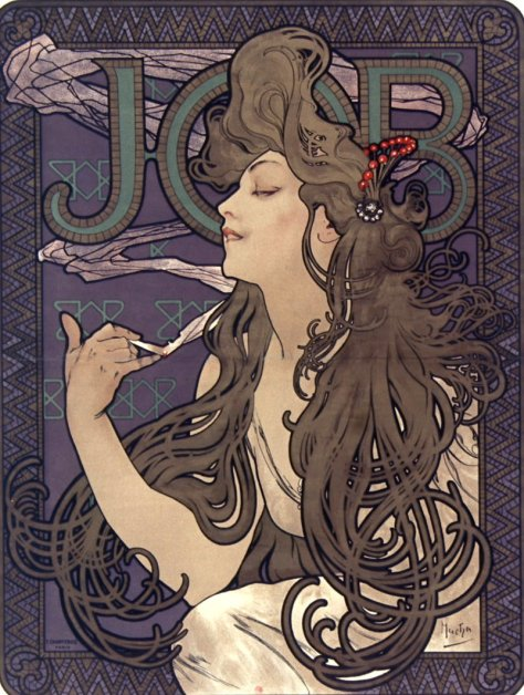Alphonse_Mucha_-_Advertisment_for_Job_cigarettes,_1896