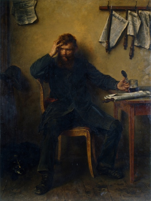 The Disaffected, 1877 (oil on canvas)