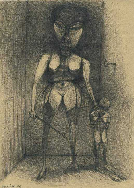 Untitled_drawing_by_Zdzislaw_Beksinski_1966