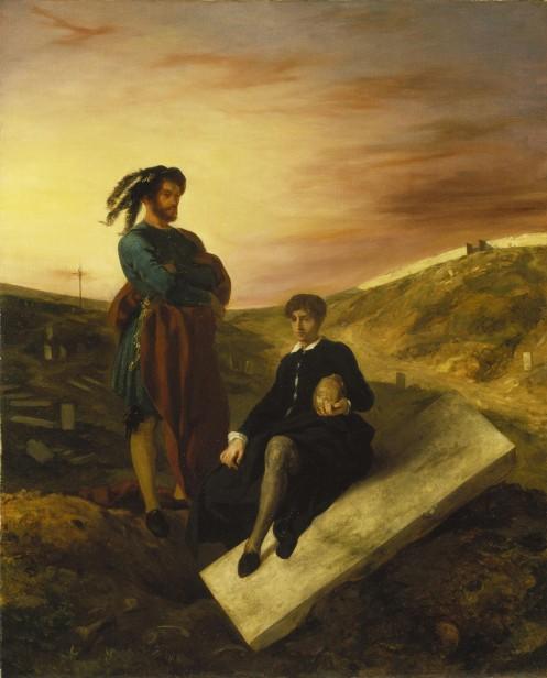 Eugène_Delacroix_Hamlet_und_Horatio_auf_dem_Friedhof_(1835)_Städel_Museum