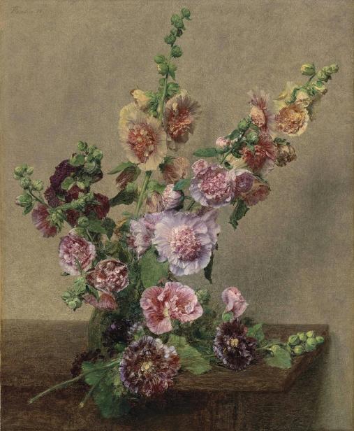 Henri_Fantin-Latour_-_Roses_trémières,_1889