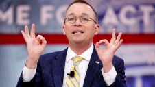 FILE PHOTO: Director of the Office of Management and Budget Mick Mulvaney speaks at the Conservative Political Action Conference (CPAC) at National Harbor, Maryland, U.S., February 24, 2018. REUTERS/Joshua Roberts/File Photo - RC19789AFEF0