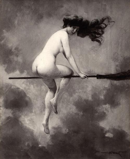 Albert_Joseph_Pénot_-_Départ_pour_le_Sabbat_(1910)