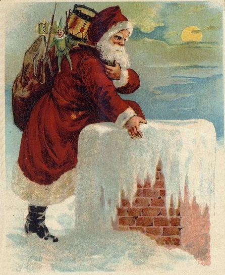 Santa_Coming_Down_the_Chimney_Drawing