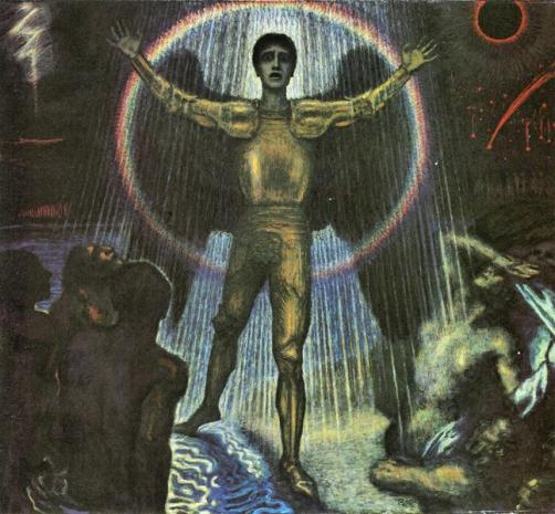 The angel of the Court by Franz von Stuck