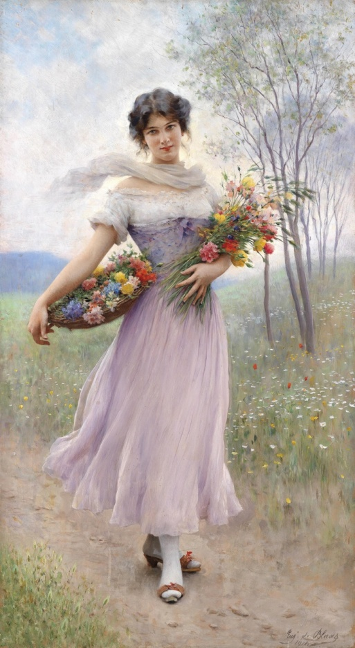Eugen_von_Blaas_-_Flower_girl