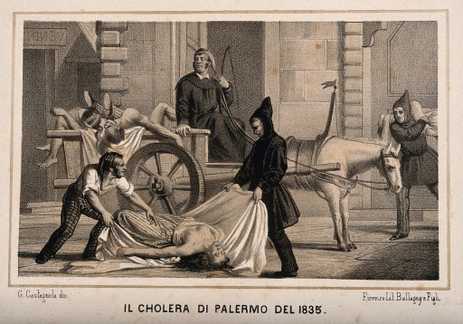 V0010486 Disposal of dead bodies during the cholera epidemic of 1835