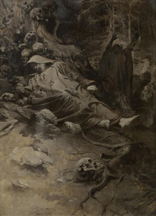 Alfons_Mucha_-_Hora_sv._Adalberta_(1892)