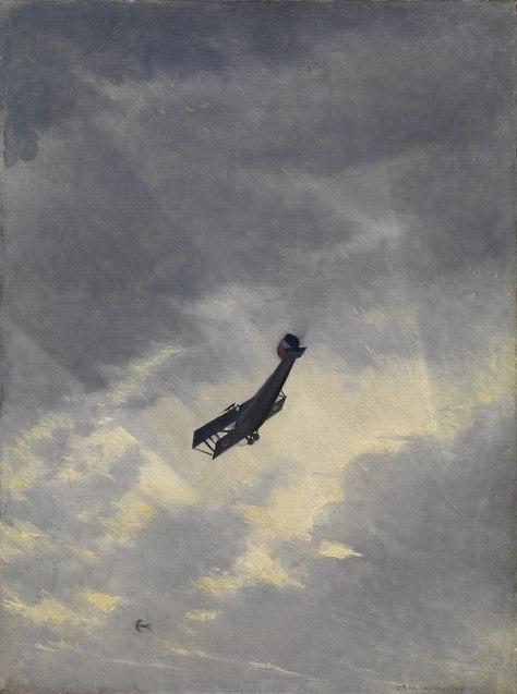 800px-C.R.W._Nevinson_-_Swooping_Down_on_a_Hostile_Plane,_1917_-_Art.IWMART517