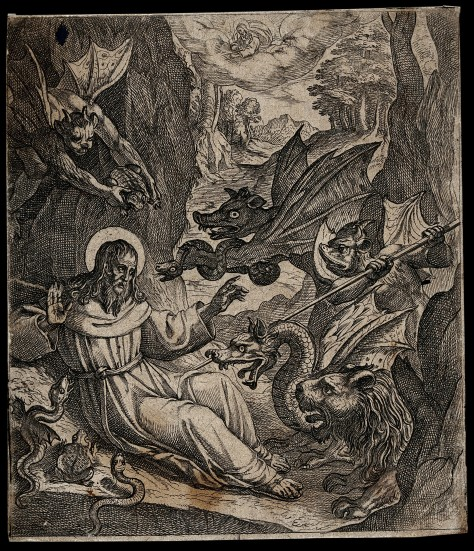V0031595 Temptation of Saint Antony. Engraving.