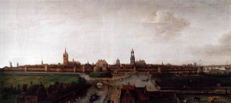 Hendrik_Cornelisz._Vroom_-_View_of_Delft_from_the_Southwest_-_WGA25410