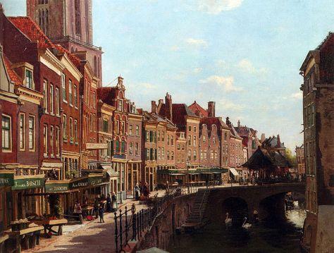 800px-Oppenoorth_Willem_Townsfolk_Shopping_Along_The_Oude_Gracht_Utrecht
