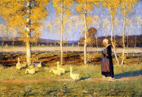 Brittany_Goose_Girl,_Clarence_Gagnon,_1908