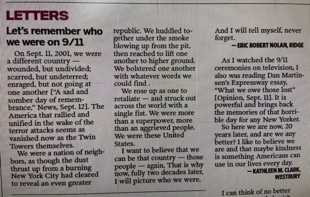 Newsday letter B